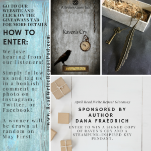 April's Giveaway sponsored by Author Dana Fraedrich!!